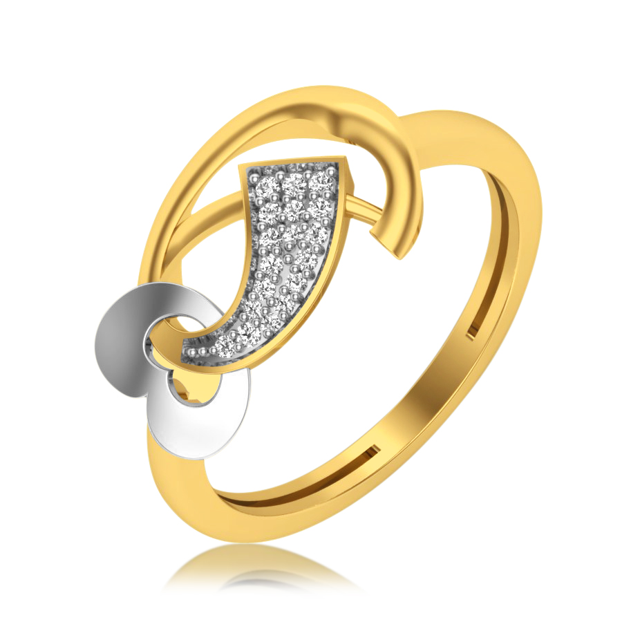 Heart Twister Diamond Ring