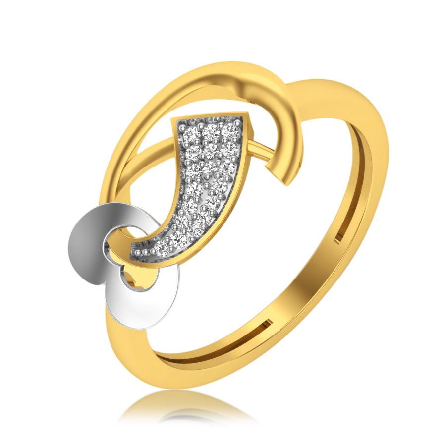 Heart Twister Diamond Ring