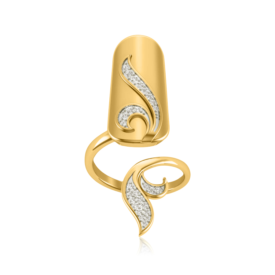 Quirky Shine Curves Ring