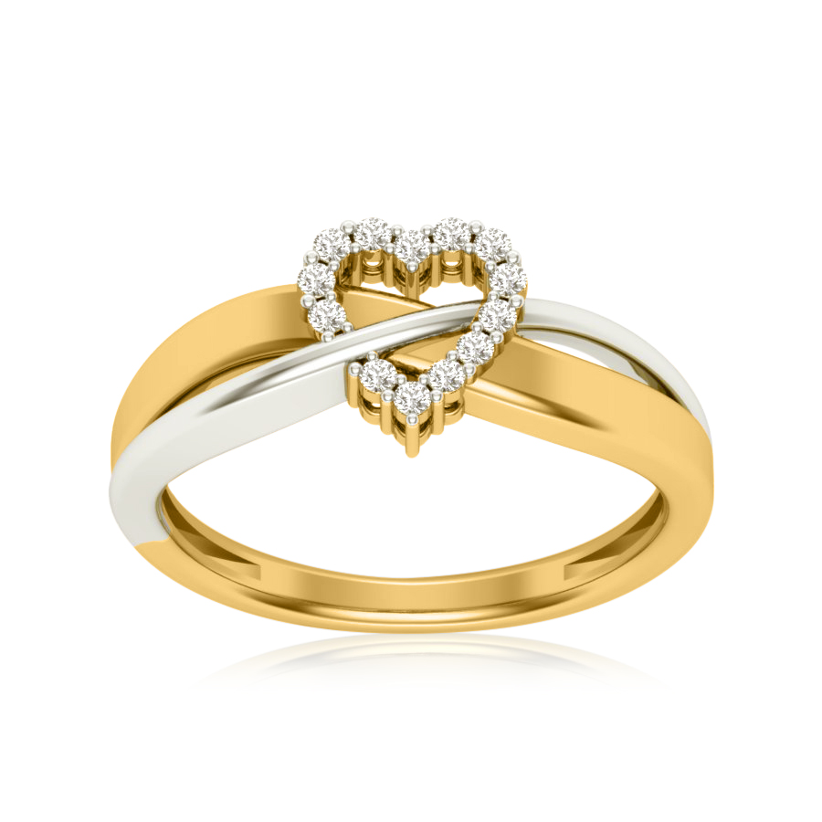 Striked Cupid Heart Ring