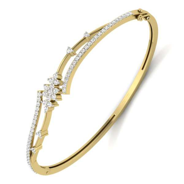 Classic n Curvy Diamond Bangle