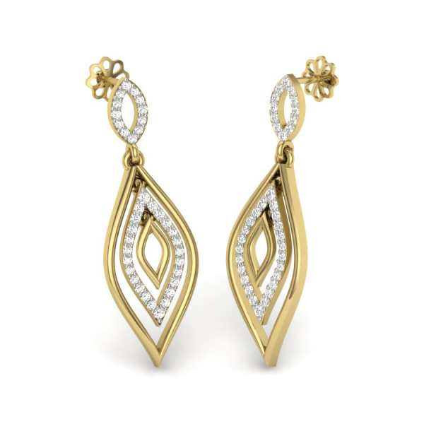 Double Drop Diamond Earring