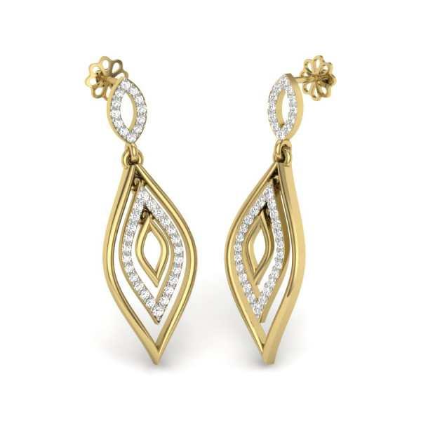 Double Drop Diamond Earring