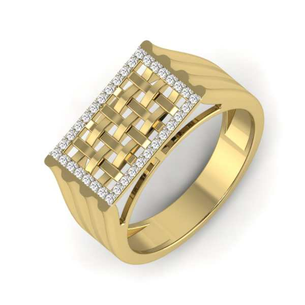 Studded Weaved Diamond Ring