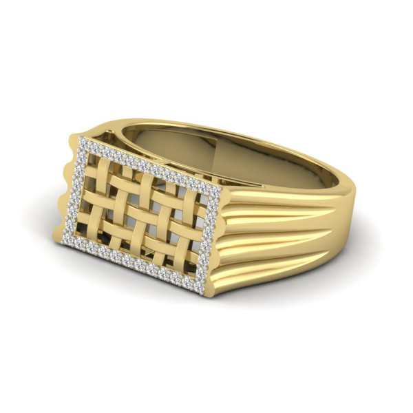 Studded Weaved Diamond Ring