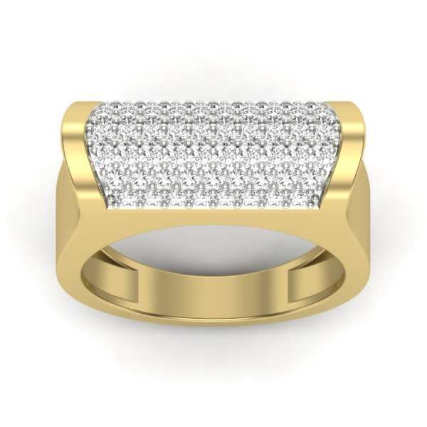 Bold Curvy Diamond Ring