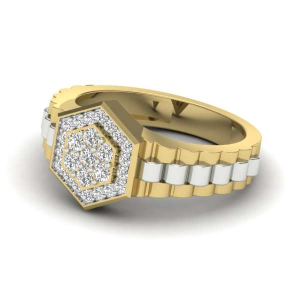 Hexa Band Diamond Ring