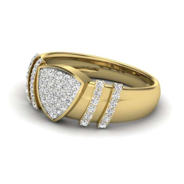 Definite Triangle Diamond Ring