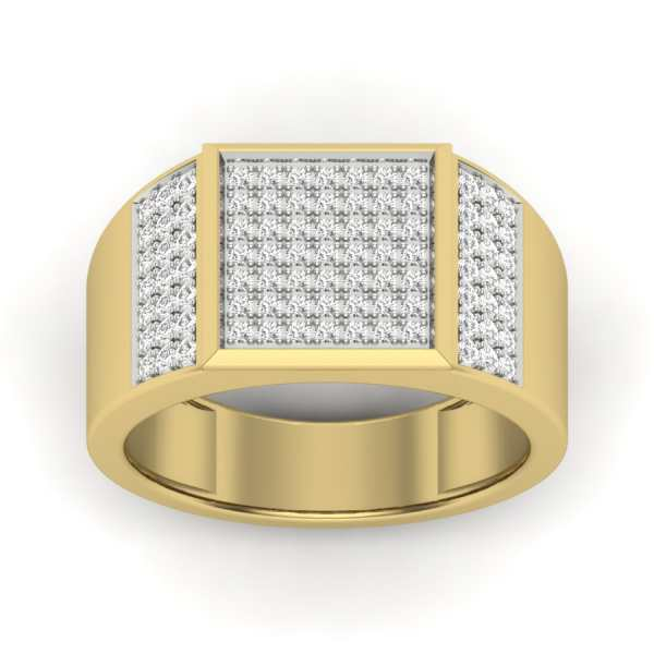 Studded Square Diamond Ring