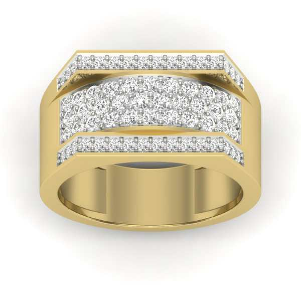 Shining Streaks Diamond Ring