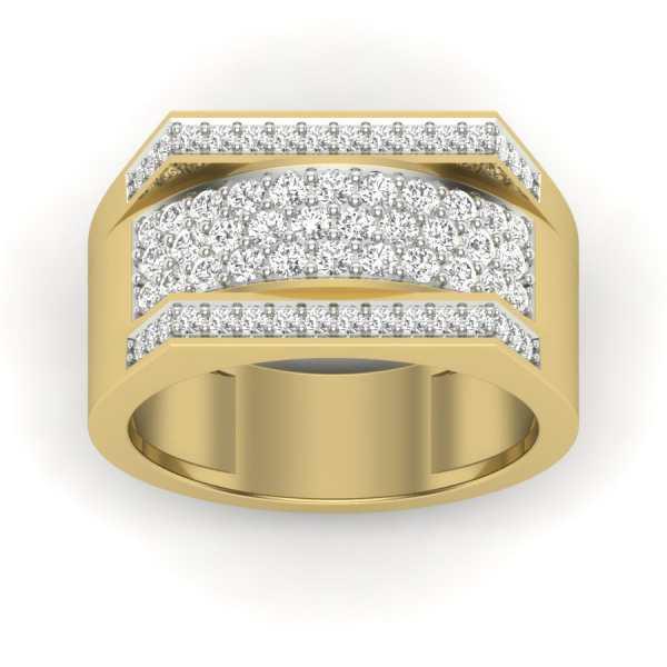 Shining Streaks Diamond Ring