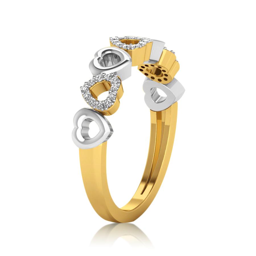 Dual Hearts Diamond Ring