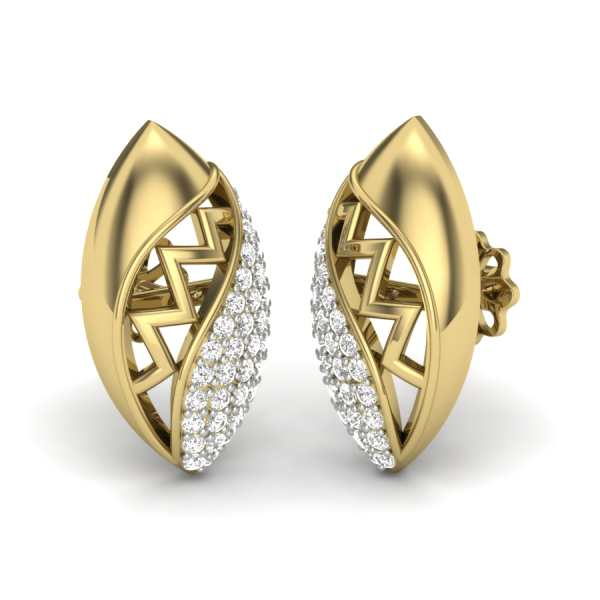Fantasy Oval Diamond Earring