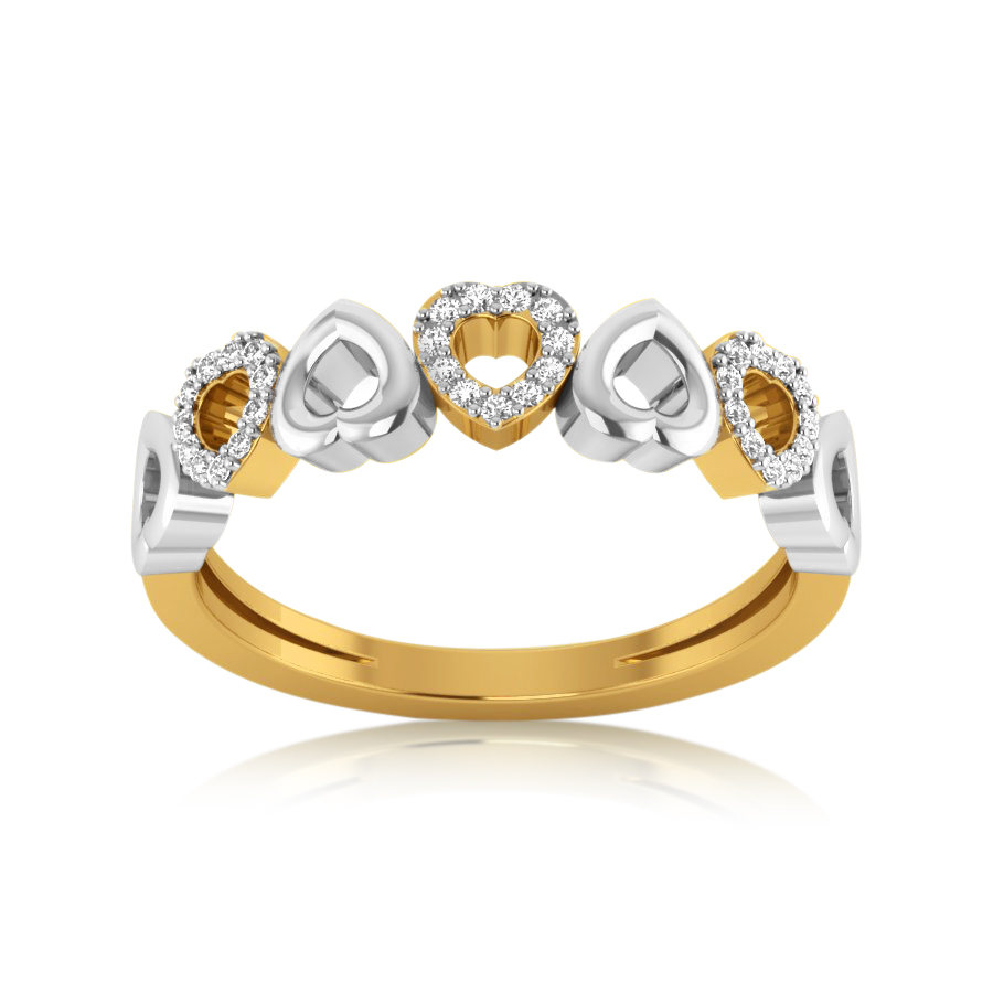 Dual Hearts Diamond Ring