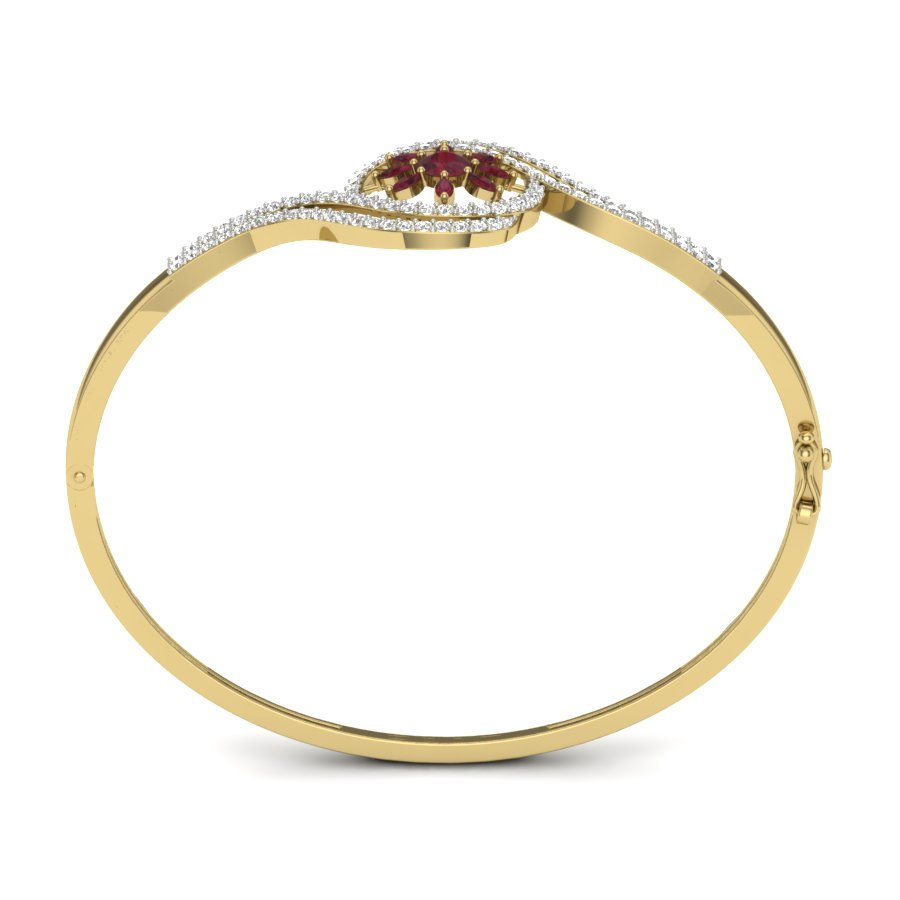 Two Ways Curve Diamond Bangle