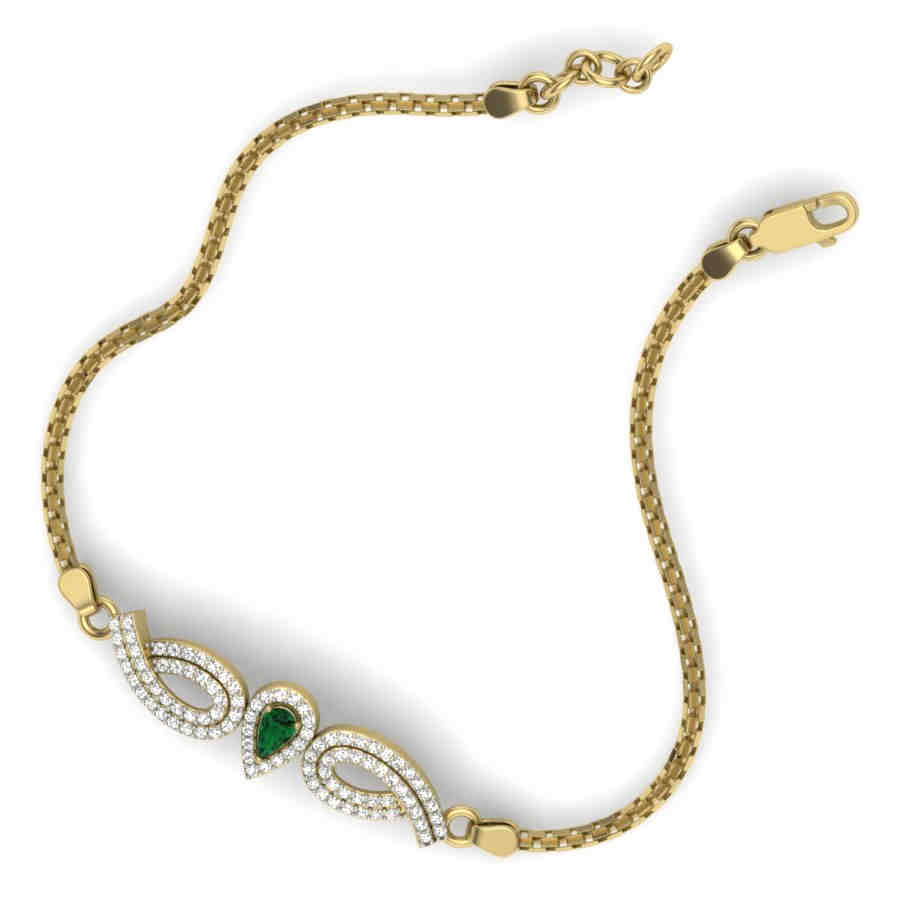Green Diamond Bangle