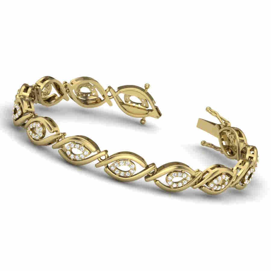 Glistening Diamond Bangle