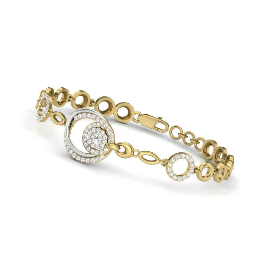 Chain Of Circles Bangle
