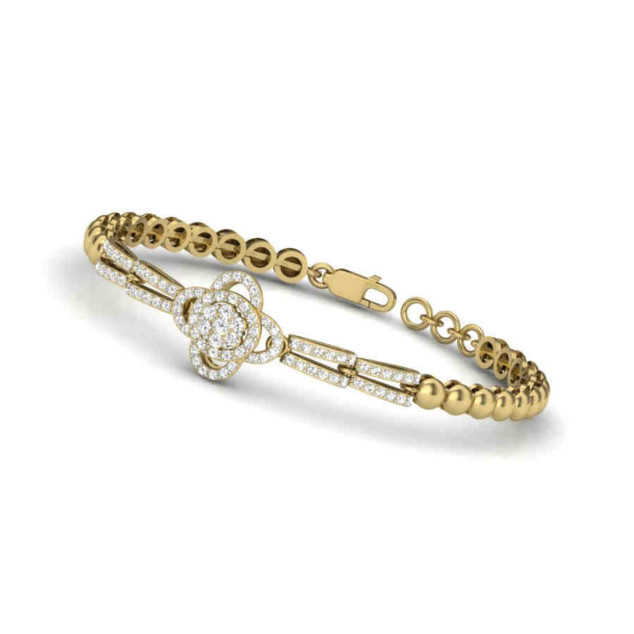 Array of Beads Diamond Bangle