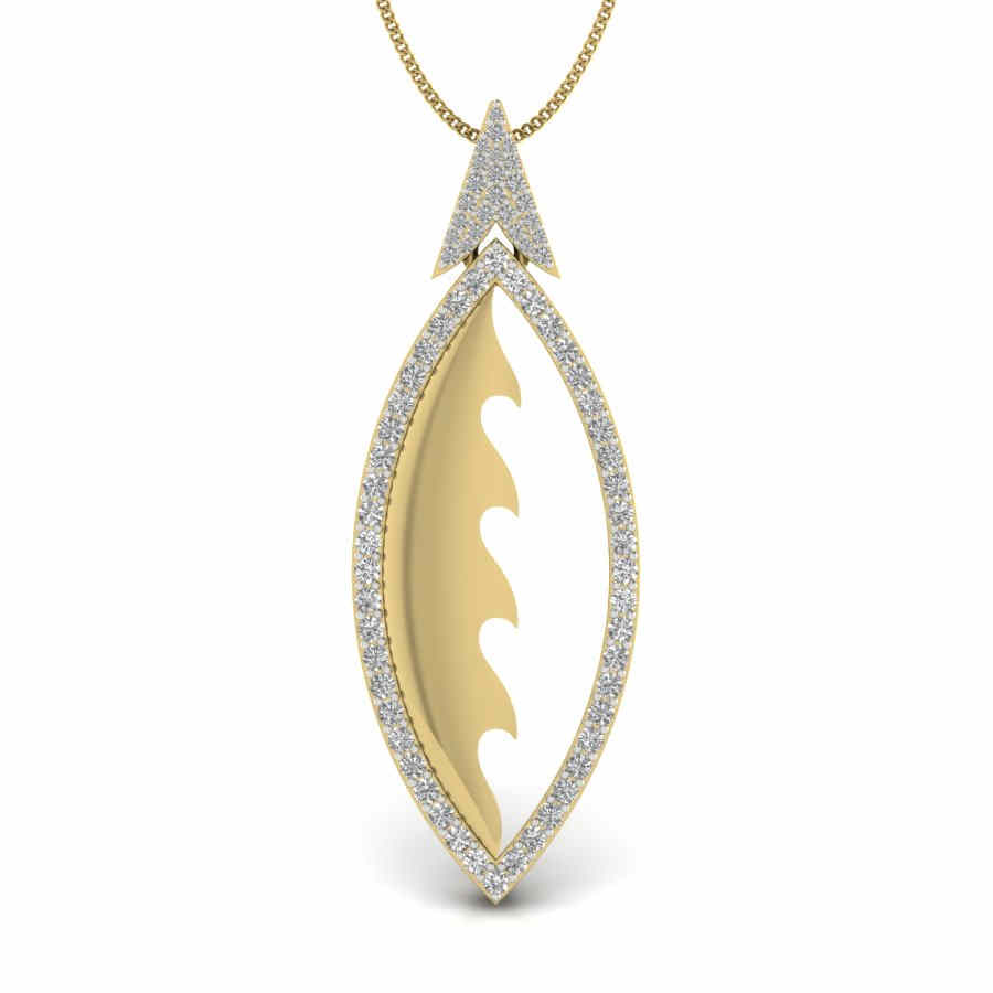 Studded Arrow Diamond Pendant
