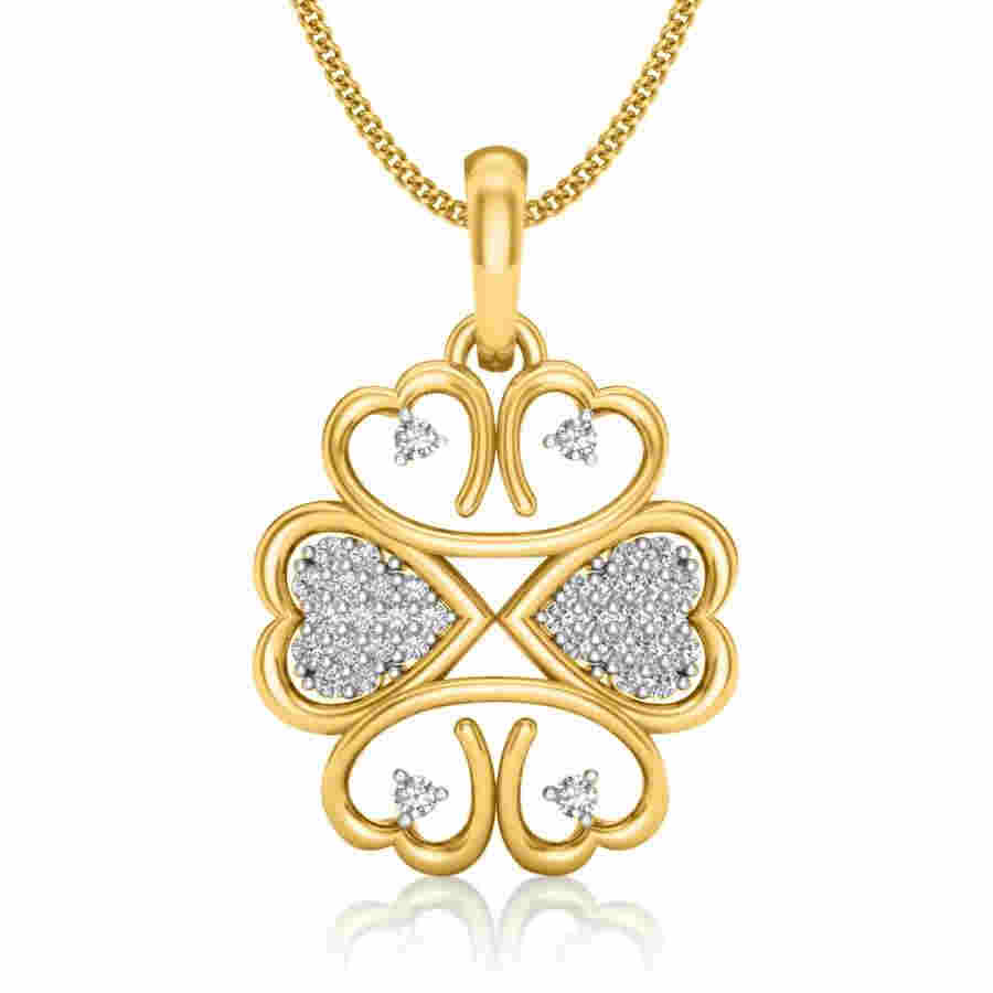 Web of Love Diamond Pendant