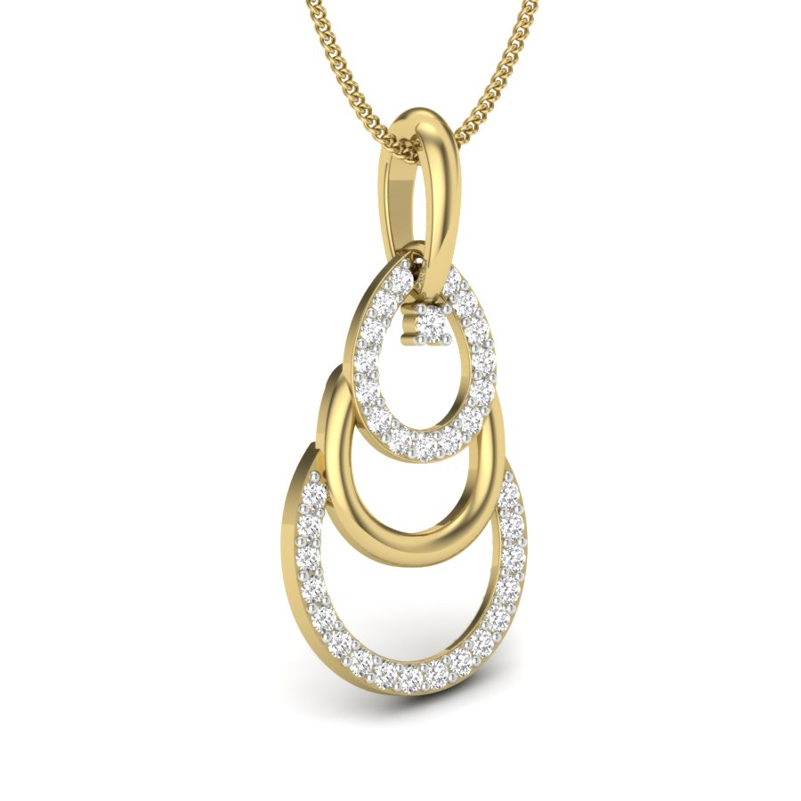 Dangling Dew Diamond Pendant