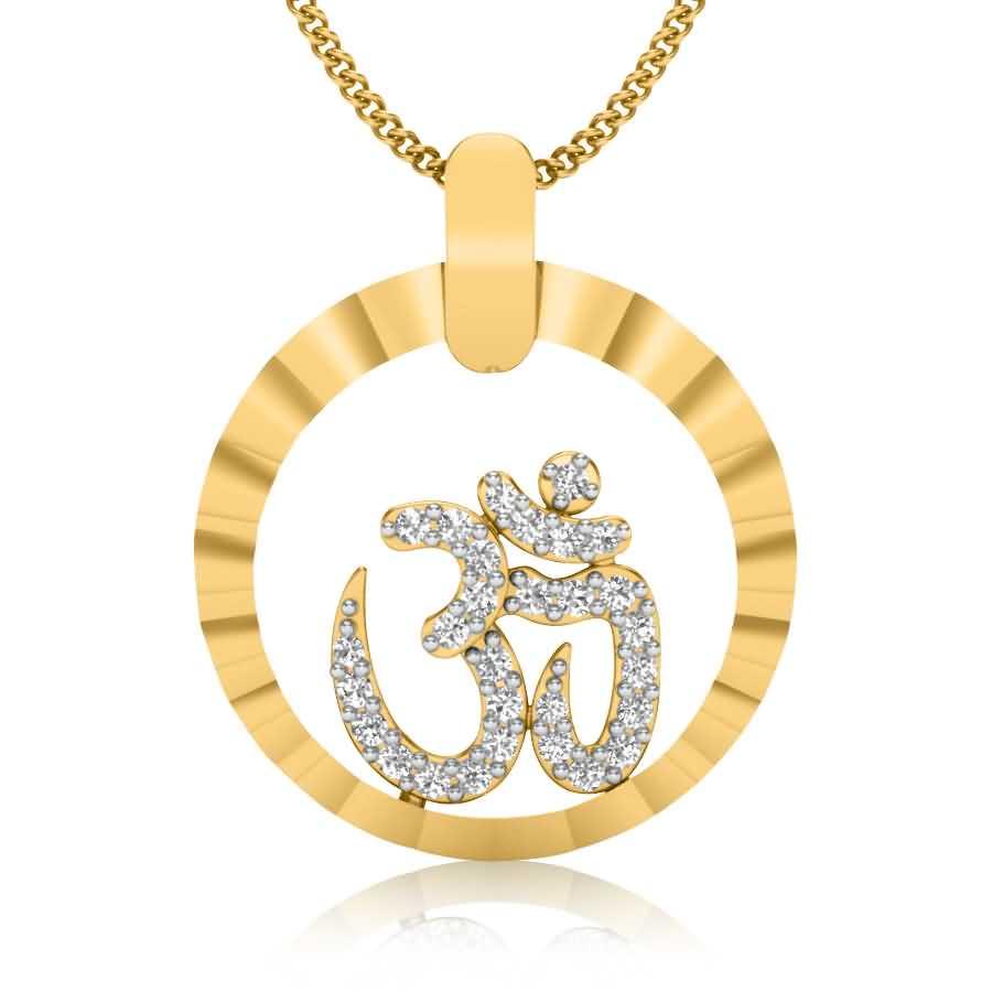 Religious OM Diamond Pendant
