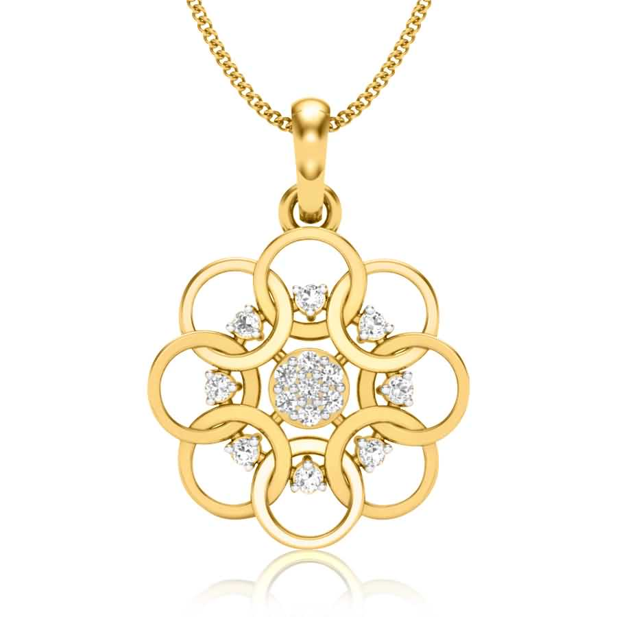 Web Of Circles Diamond Pendant