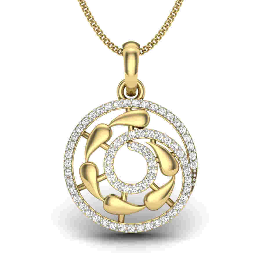 Dual Fire Diamond Pendant
