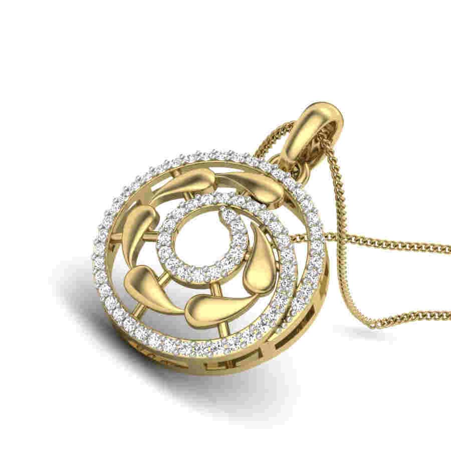 Dual Fire Diamond Pendant