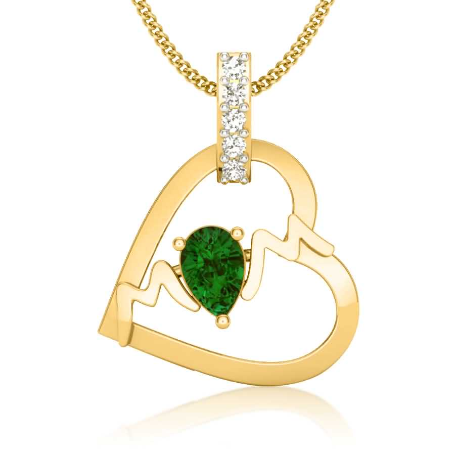 Love For MOM Diamond Pendant