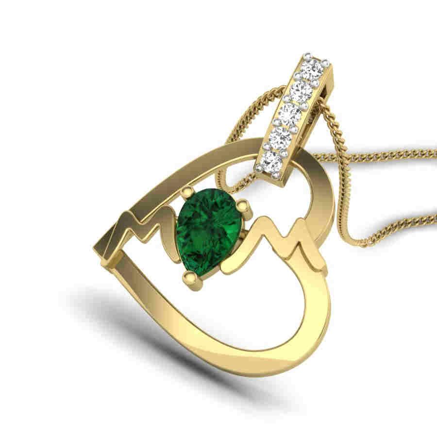 Love For MOM Diamond Pendant