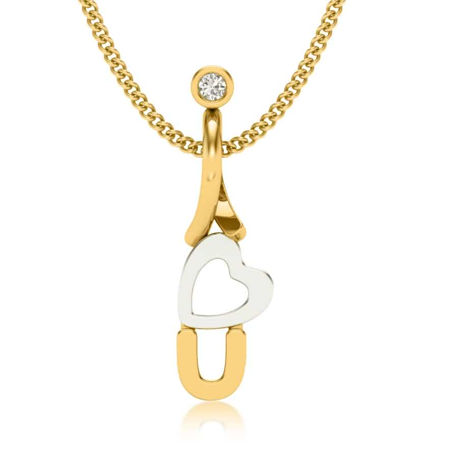 Love Style Diamond Pendant