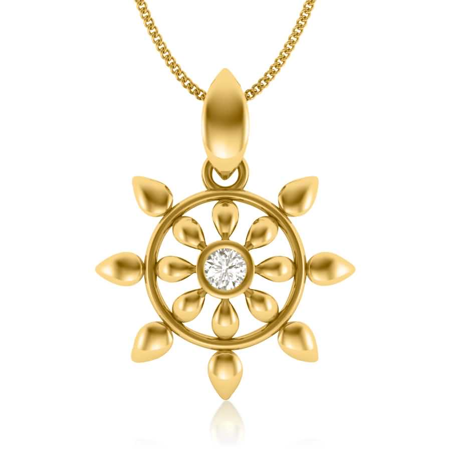 Star In Star Diamond Pendant