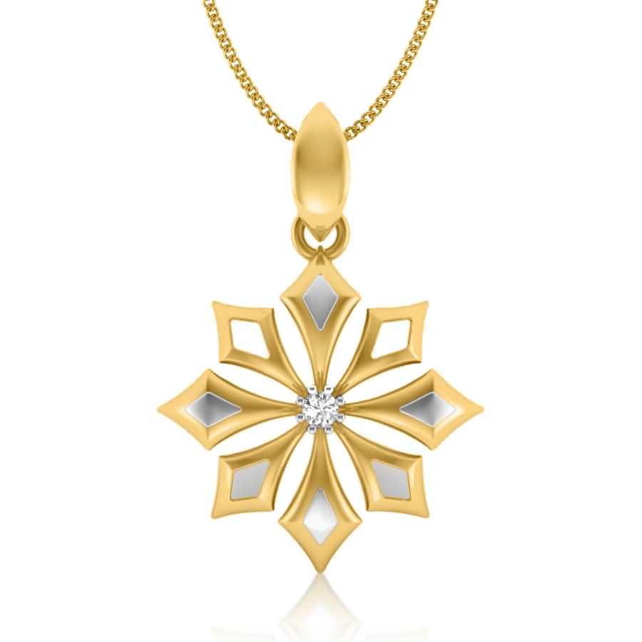 Magical Arrows Diamond Pendant