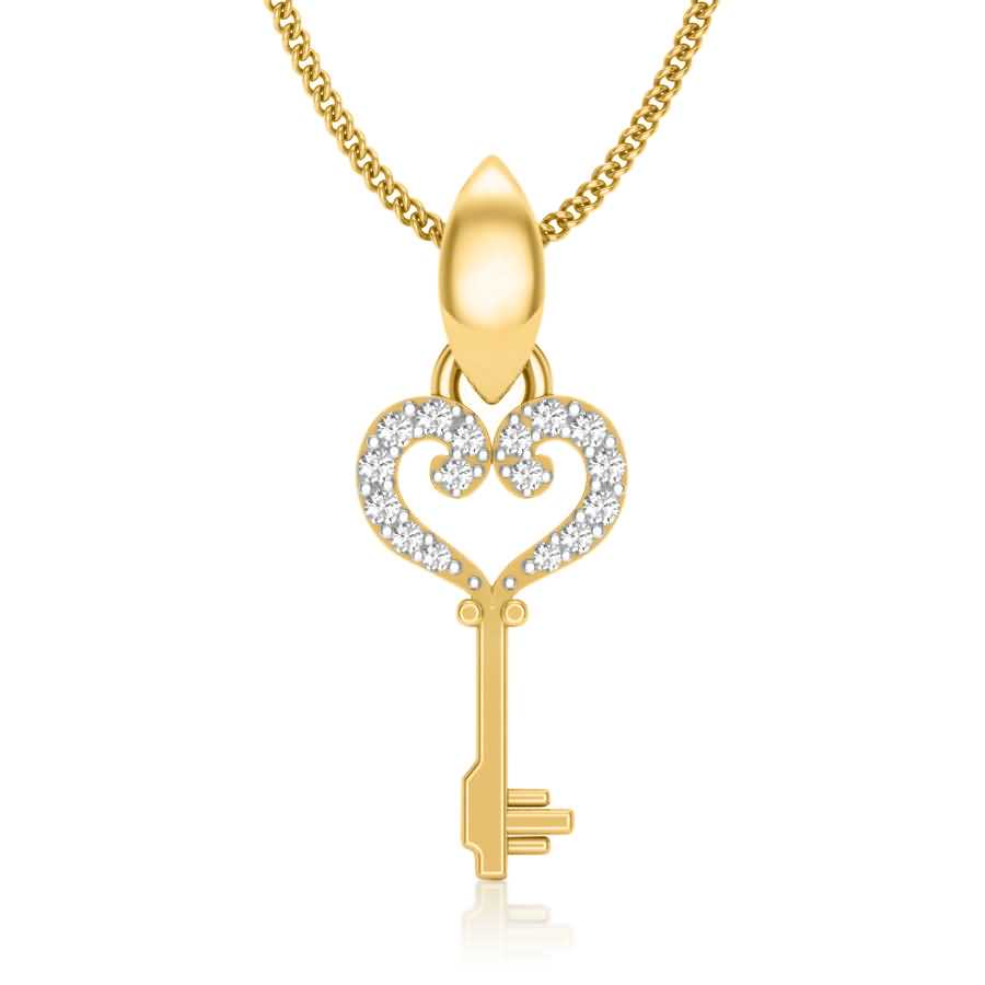 Key Of Love Diamond Pendant