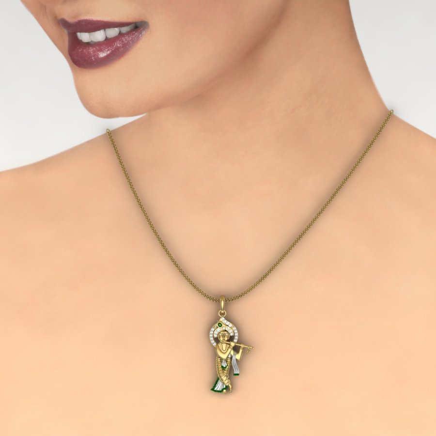 Krishna Diamond Pendant