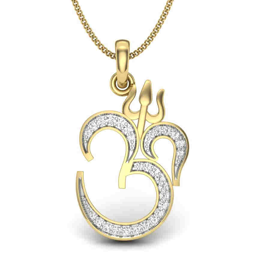 Enchanting OM Diamond Pendant