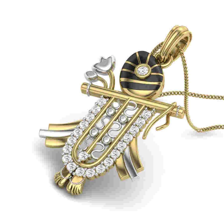 Krishnas Diamond Pendant