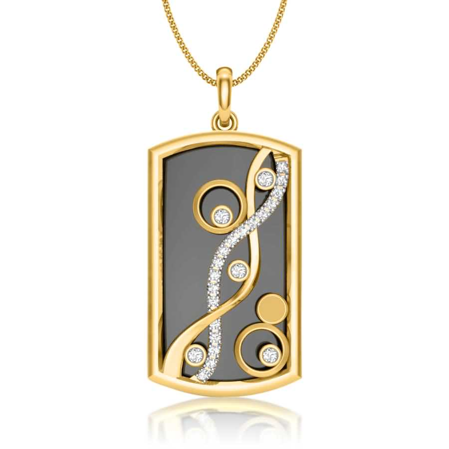 Wave with Diamond Pendant