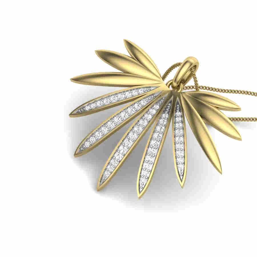 Conjoined Dews Diamond Pendant