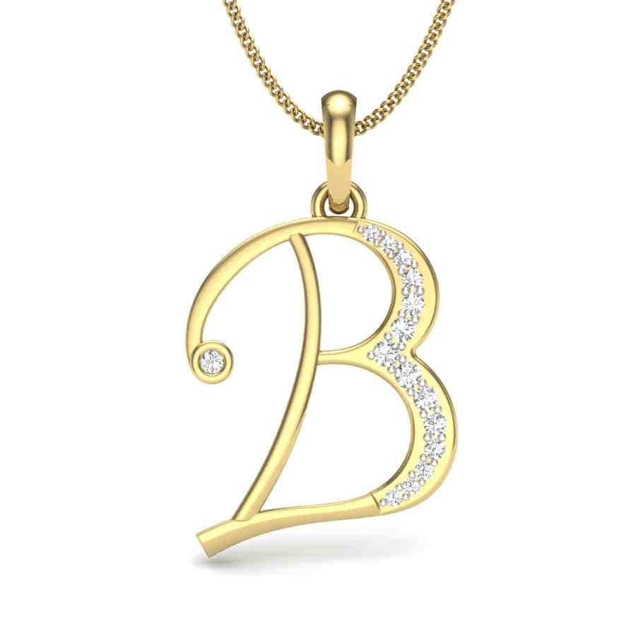 B Diamond Pendant