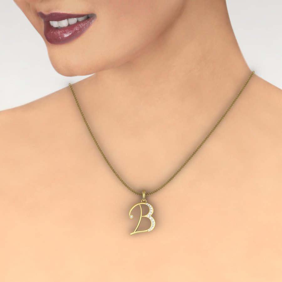 B Diamond Pendant