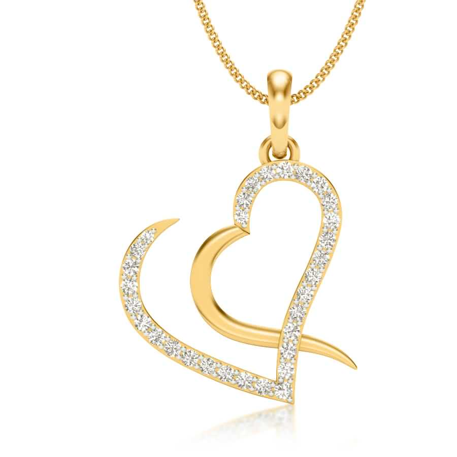 Love with Love Diamond Pendant