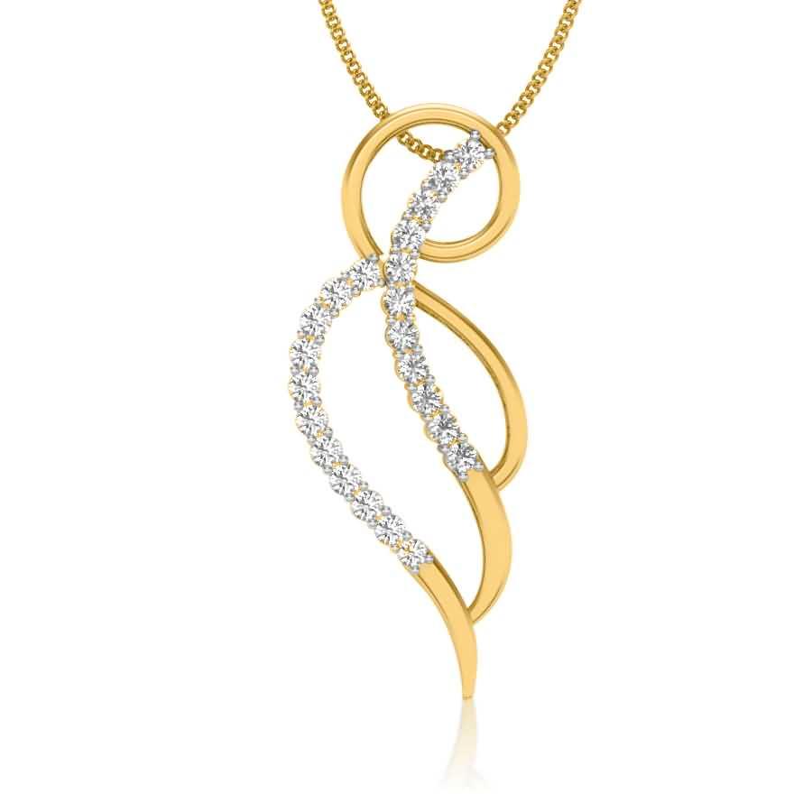 Cocoleaf Diamond Pendant